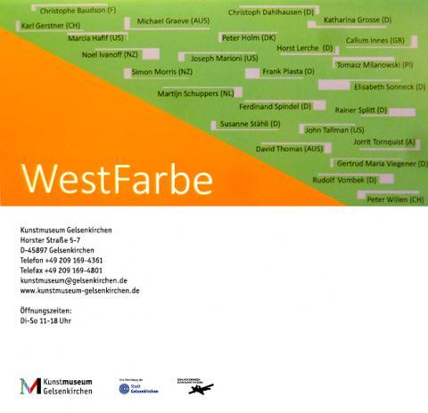 WESTFARBE 2017 Kunstmuseum Gelsenkirchen